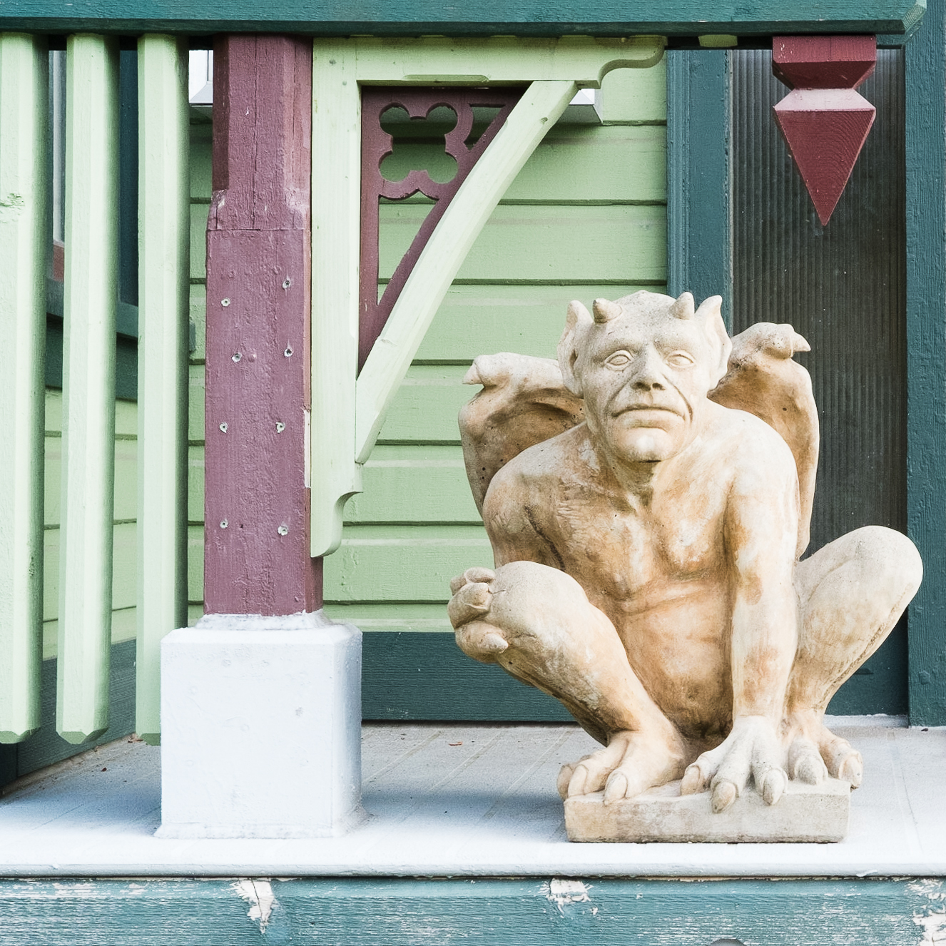 gargoyle, New Westminster, BC, Canada, architecture, home