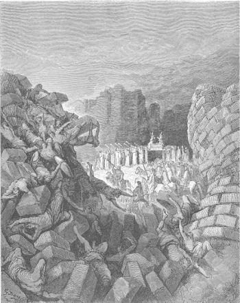 The_Walls_of_Jericho_Fall_Down_by_Gustav_Dore