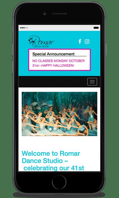 romardance-website-phone