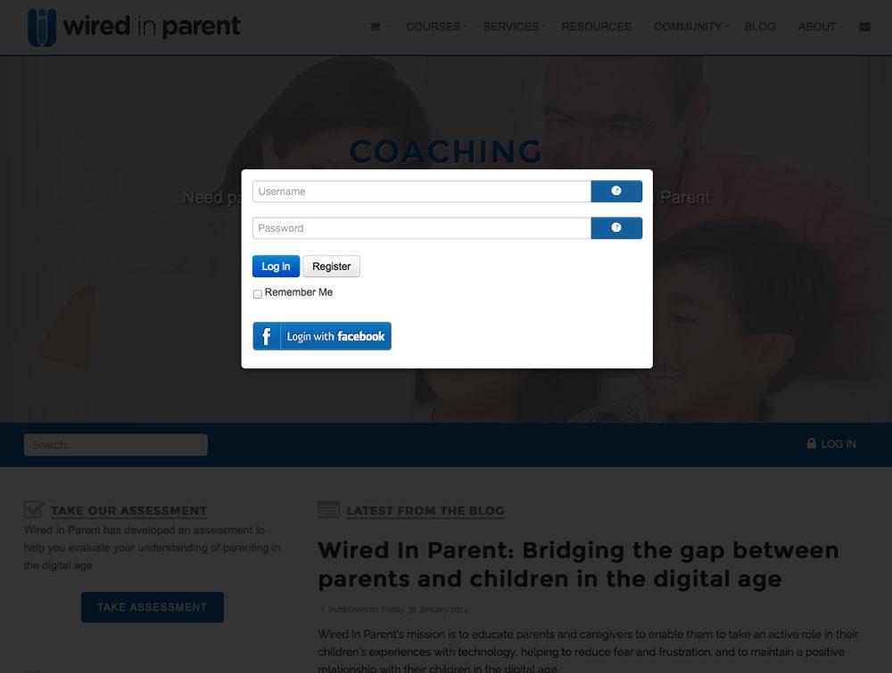 wiredinparent-website-login