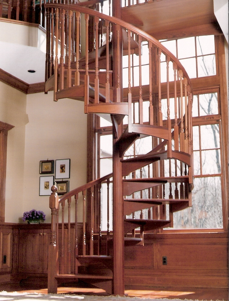 NonStock Wood Spiral Staircases  TEEM Wholesale  Custom