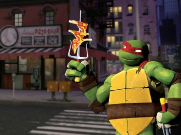 Raphael balancing pizza | TeenageMutantNinjaTurtles.com