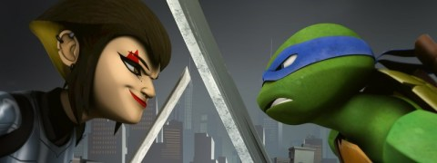 A new girl in town review Ninja Turtles
