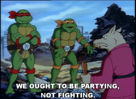 Teenage Mutant Ninja Turtles Michelangelo Not Fighting