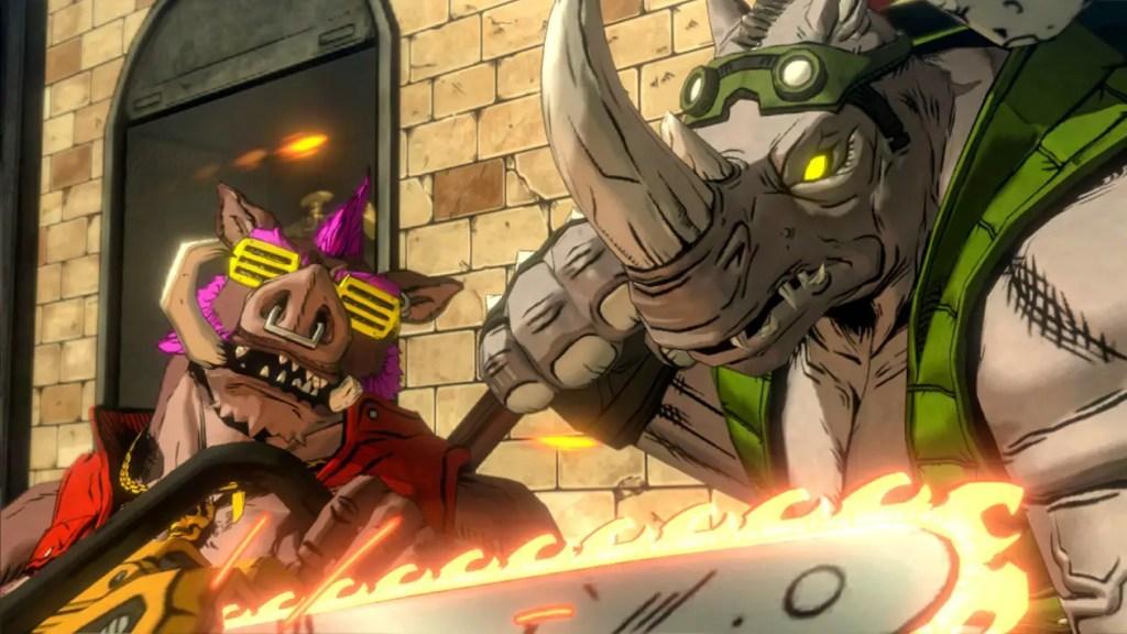 Bebop slices through the price of Mutants in Manhattan. Image Source: Activision, Platinum Games