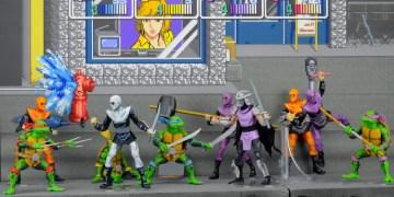 The new SDCC exclusive Teenage Mutant Ninja Turtles Arcade game figures from NECA. Source: NECA.