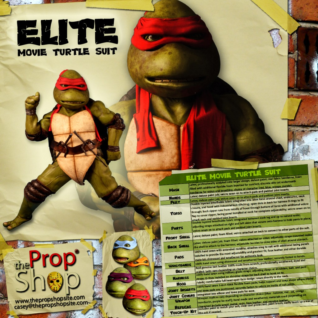 Deluxe Turtle Costumes From The Prop Shop Teenage Mutant