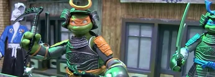Mikey is looking pretty darn good in Samurai form! How good will Usagi Yojimbo look? Image Source: Pixel Dan, Playmates Toys.