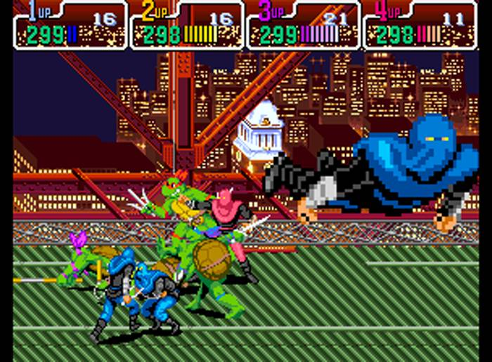 Turtles in Time was one of the best arcade game ports ever produced for the SNES. Image Source: Konami.