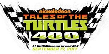 This is the official logo for the Tales of the Turtles 400 race which will take place at Chicagoland Speedway on September 17th, 2017. Source: NASCAR, Nickelodeon.