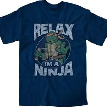Ninja Turtles Relax I'm A Ninja Navy T-Shirt