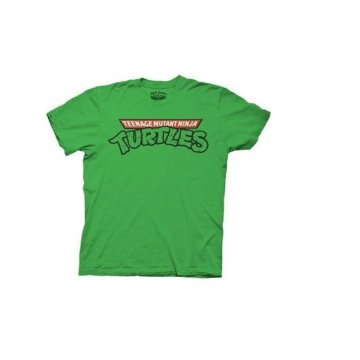 Ninja Turtles Classic Logo Adult Green T-shirt
