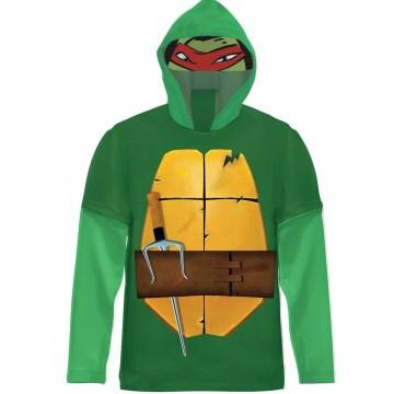 Nickelodeon TMNT Raphael Long Sleeve Costume Shirt