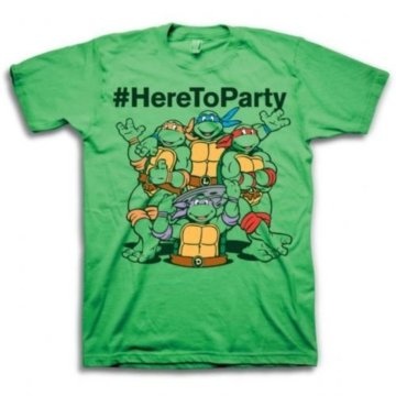 Ninja Turtles #HereToParty Here To Party Green T-Shirt