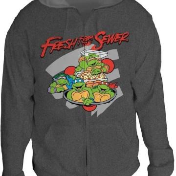 Ninja Turtles Fresh from the Sewer Charcoal Hoodie
