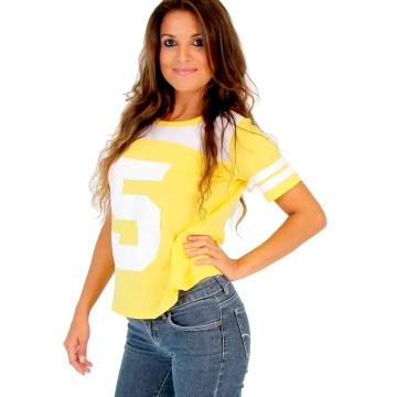 April O' Neil Nick Turtles Number 5 Juniors T-shirt