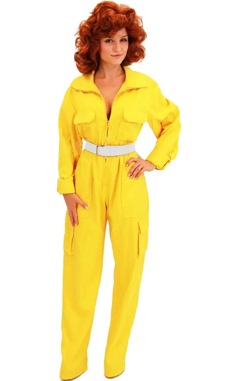 April Oneil Yellow Jumpsuit