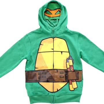 Ninja Turtles Boys Green Costume Hoodie