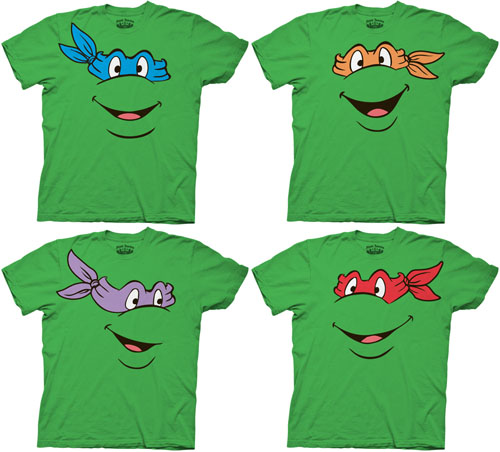 united kingdom beautiful and charming authorized site Ninja Turtles Character Faces Adult T-shirt