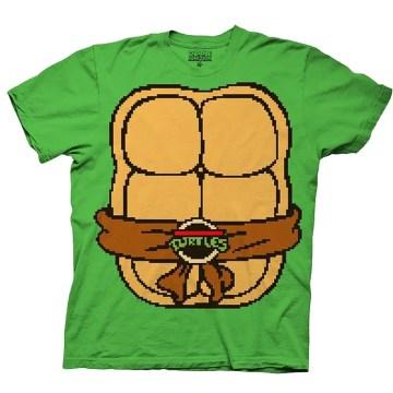 Classic Ninja Turtles Body Shirt 8 Bit Green T-shirt