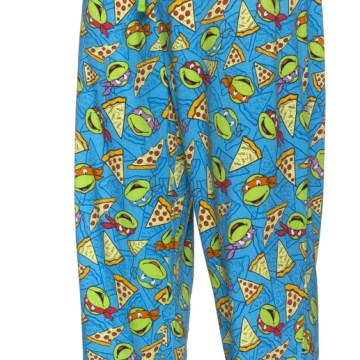 Ninja Turtles Faces and Pizza Lounge Pants