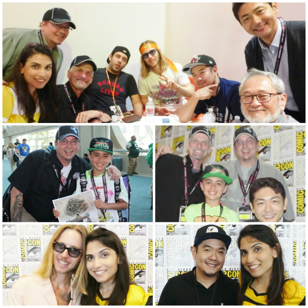 Machelle Noel and her co-host Jimmy had a lot of fun hanging out with these turtley awesome dudes at SDCC 2017! Image Source: GeekRockTV.