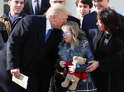 Donald Trump With Down Syndrome Child