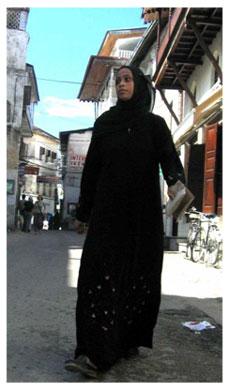 Young Muslim woman wearing Jilbab