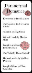YA Paranormal Romance Bookmark