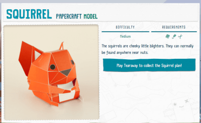 Squirrel Papercraft