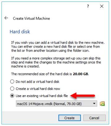 Add the macOS 10.14 Mojave Virtual Image to Virtual Machine