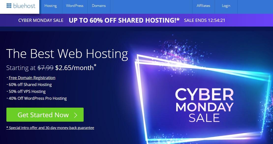blue host web hosting 2019