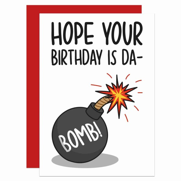 Funny Birthday Card, Bomb Pun Card, Have a Blast Card, Have a Great Day, Confetti Card, TeePee Creations, Funny Pun Card, Fun Birthday Card, Bomb Birthday Card, Explosion Card, Happy Birthday Card, Cute Birthday Card, Have Fun Card