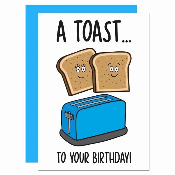 Cute Birthday Card, Funny Birthday Card, Toast Pun Card, Congratulations Card, Confetti Card, TP Creation, Card for Friend, Food Lover Card, Card for Vegan, Card for Vegetarian, Toaster Pun Card, TeePee Creations, Fun Party Card