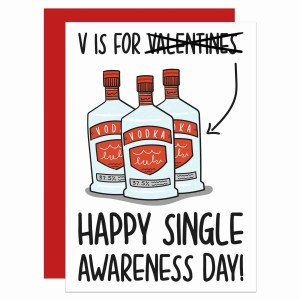 Galentines Day Valentines Gift Funny Love Card TeePee Creations Confetti Vokda Best Friend Pun Single Cheeky Rude Party Palentines Drink Illustration Fun Joke