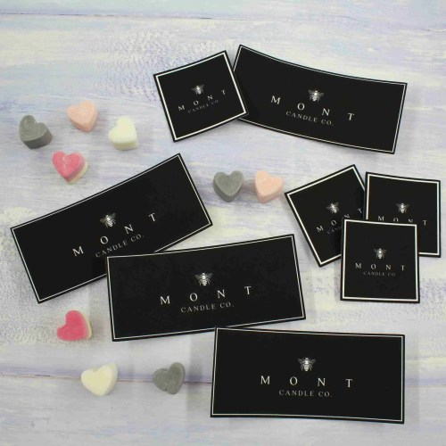 mont candle stickers