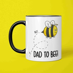 New Dad Accessory, Parent To Be Pun, Fathers Day Mug, Christening Gift, Funny Baby Shower, Pregnancy Joke, Baptism Present, TeePee Creations, Bee Illustration, Cute Cartoon, Expecting Daddy, Home Congratulations, Maternity Cup