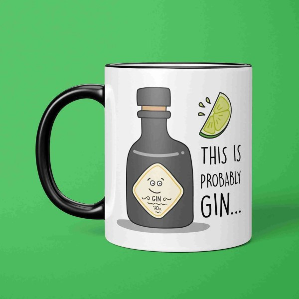 Funny Gin Mug, TePe Creations, Graduation Gift, Congratulations Gift, Present for Gin Lover, Gin Birthday Gift, Wedding Present, Mothers Day Gift, Christmas Present, Cheeky Gin Mug, Gin Pun Mug, Gift for Friend, New Home Gift