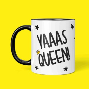 Graduation Gift Funny Pun Mug Present Diva Yas Queen Yaaas TePe Creations Birthday Congratulations Girl LGBT Pride RuPauls Drag Race Positive Affirmation Friend Princess
