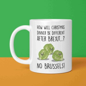 Brexit Christmas, Funny Christmas Mug, Brussel Sprouts Pun, TeePee Creations, Christmas Present, Funny Christmas Gift, Theresa May Mug, Boris Johnson Mug, Funny Holidays Gift, EU Joke Gift, European Union, Confetti Card, Political Christmas