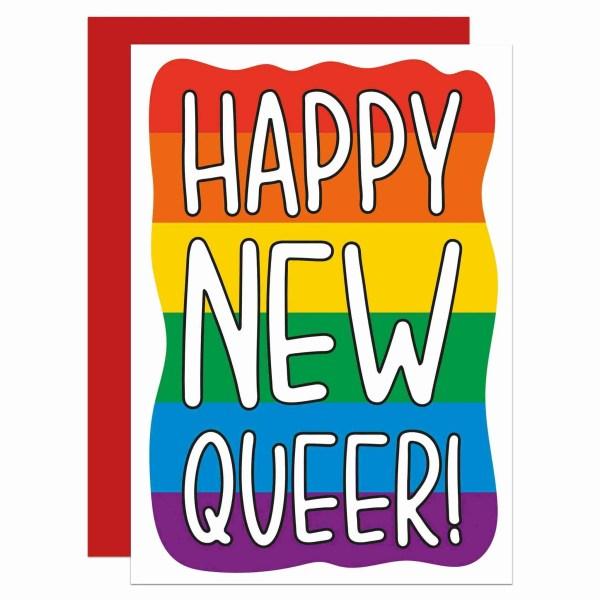 Funny Pun Card, TeePee Creations, Confetti Card, Gay New Year Card, Funny Holidays Card, LGBTQ Christmas, Pride Christmas Card, Homosexual Card, Pride Rainbow Card, Pride Flag Card, Card for Lesbian, Happy Holidays Card, Funny New Year Card