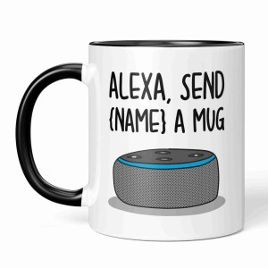Funny Alexa Pun, TePe Creations, Christmas Present, Customisable Gift, Personalised Gift, Funny Christmas Gift, Gift for Tech Lover, Alexa Command Mug, Birthday Present, New Job Gift, Technology Lover, IT Lover Gift, Housewarming Gift