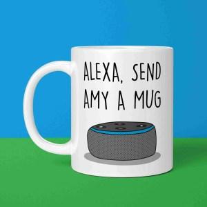 Funny Alexa Pun, TePe Creations, Christmas Present, Customisable Gift, Personalised Gift, Funny Christmas Gift, Gift for Tech Lover, Alexa Command Mug, Birthday Present, New Job Gift, Technology Lover, IT Lover Gift, Housewarming Gift