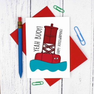 New House Card, New Home Card, Housewarming Card, Funny Pun Card, Yeah Boy Card, Congratulations Card, Yeah Buoy Pun, Boat Pun Card, Confetti Card, TeePee Creations, Moving Away Card, Yeah Boi Card, Happy Card