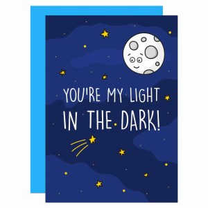 TP Creations, Valentines Day Card, Anniversary Card, Confetti Card, Light In The Dark, Night Sky Pun Card, Funny Love Card, Cute Love Card, Moon and Stars Card, Card for Boyfriend, Card for Girlfriend, Supportive Card, Mental Health Card