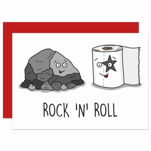 Rock Pun Card, Funny Pun Card, Tee Pee Creations, Confetti Card, Roll Pun Card, Congratulations Card, Rock and Roll Card, Fun Blank Card, Music Lover Card, Card for Singer, Anniversary Card, Card for Punk, Funny Birthday Card