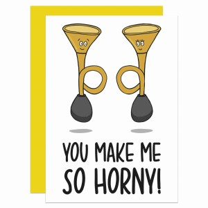 TeePee Creations, Confetti Card, Valentines Day Card, Funny Pun Card, Fun Love Card, Horn Pun Card, Horny Pun Card, Card for Boyfriend, Card for Girlfriend, Card for Wife, Card for Husband, Cheeky Love Card, Cheesy Valentines