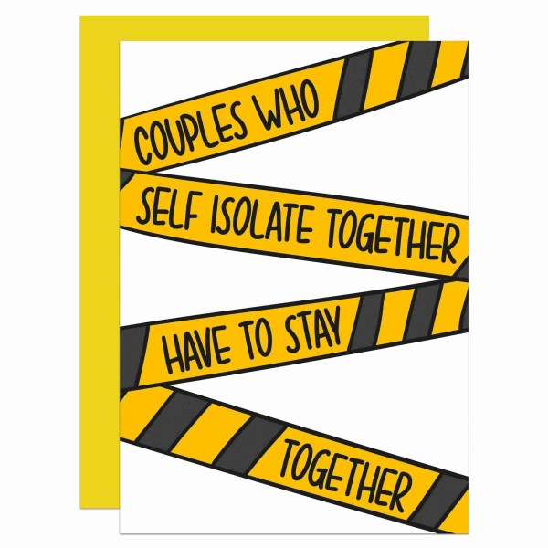 Corona Virus Card, Funny Card, Pandemic Crisis, Epidemic News, TeePee Creations, Confetti Card, Rude Card, Cheeky Card, Anniversary Card, Valentines Day Card, Just Because Card, Self Isolation Card, Couples Who