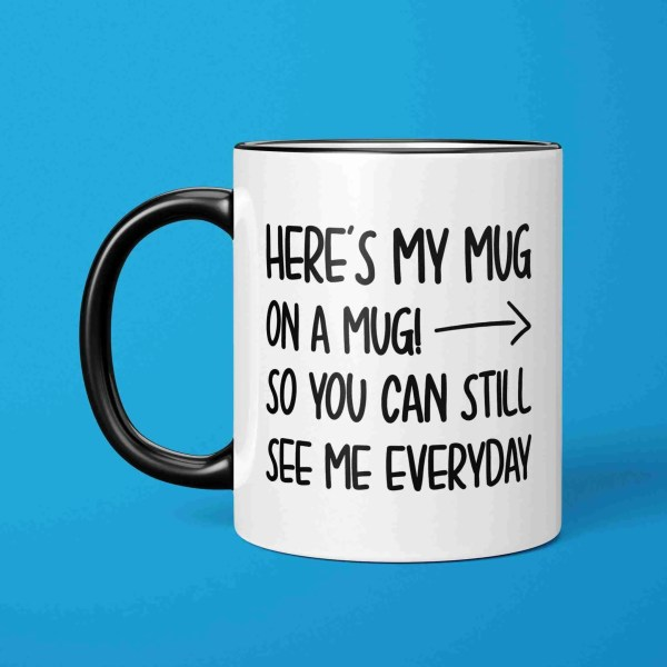 Social Distance Mug, Social Distancing, Photo Mug, Mug on a Mug, Funny Gift, Corona Virus, Pandemic Mug, Self Isolation, TeePee Creations, Cheeky Present, Funny Gift, Quarantine Mug, Birthday Present