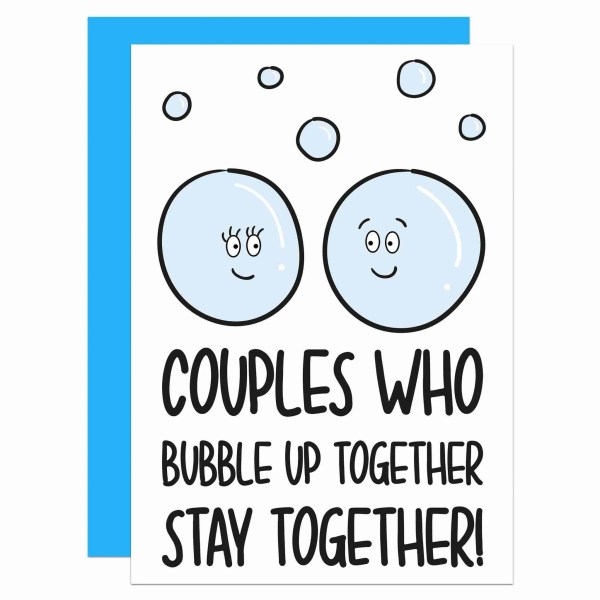 Pun Anniversary Card, Social Distancing, Bubble Up Card, Bubble Together, Quarantine Card, Funny Love Card, Lockdown Card, Long Distance Card, TeePee Creations, Confetti Card, Self Isolation, Card for Boyfriend, Card for Girlfriend